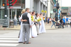 Wedding Party downtown